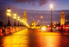 Alexandre III Bridge, Paris, France Royalty Free Stock Photography