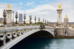 Alexandre III bridge in Paris in the morning Stock Image