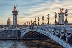 Alexandre III brug in Parijs stock afbeelding