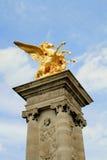 alexandre iii paris pont Royaltyfri Fotografi