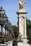 alexandre iii巴黎pont 库存图片