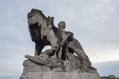 alexandre iii pont Royaltyfri Fotografi