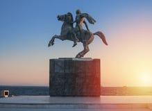 Alexandre la statue grande Image libre de droits