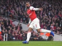 Free Alexandre Lacazette Of Arsenal FC Stock Photography - 184694862