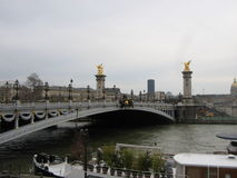 Alexandre most w Paryż Obrazy Royalty Free