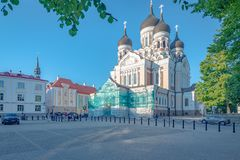 Alexandre Nevsky Cathedral, Tallinn, Estonie image libre de droits