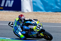 Alexandre Praud pilot of Stock Extreme of the CEV Championship Stock Image