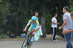Alexandre Vinokourov. At the Giro d'Italia - Last day 30-05-2010 royalty free stock photo