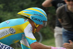 Alexandre Vinokourov. At the Giro d'Italia - Last day 30-05-2010 royalty free stock photos