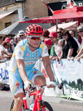 Alexandre Vinokourov speed cyclist. Olympic champion from Kazachstan Alexandre Vinokourov won the first price time trial during cycling race in Etten-Leur Royalty Free Stock Images
