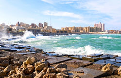 Alexandria. The coast of Alexandria, Egypt Stock Photo