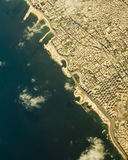 Alexandria from air. Bird view of Mediterranean Sea coast in egyptian Alexandria Royalty Free Stock Image