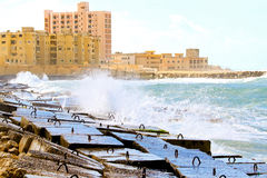 Alexandria breakwater Stock Photography