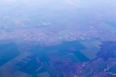 Alexandria city. Aerial view of Alexandria city and the near villages, Romania Stock Image
