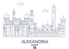 Alexandria City Skyline, Egypte Photographie stock