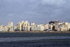 Alexandria coast stock image