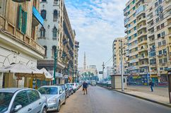 The busy streets of Alexandria, Egypt Royalty Free Stock Images