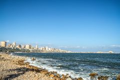 17/11/2018 Alexandria, Egypt, view of the embankment of the ancient city on the Mediterranean coast royalty free stock photos