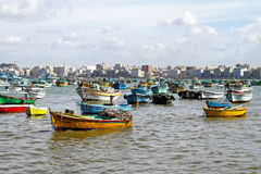 Alexandria harbor stock images