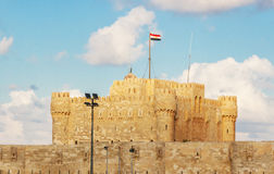 Alexandria Historical View van Qaetbay-Kasteel Royalty-vrije Stock Foto's