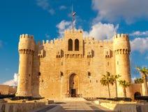 Alexandria Historical View van Qaetbay-Kasteel Stock Foto's