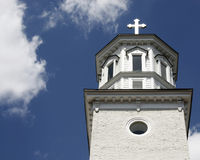 Alexandria-KircheSteeple Lizenzfreie Stockbilder