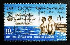Alexandria Long Distance Swimming Marathon, Sport serie, circa 1965 Lizenzfreie Stockfotos