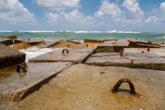 Alexandria Mediterranean Sea-kust Stock Foto's