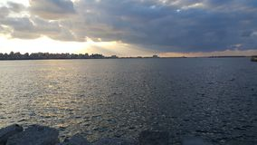Alexandria-Meer mit Wolken Lizenzfreie Stockbilder
