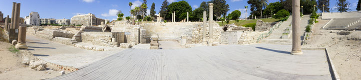 Alexandria roman theater panorama Stock Photo