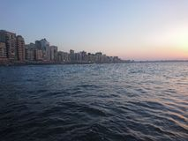 Alexandria. Sea and sky in Alexandria Egypt   sun Royalty Free Stock Image