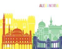 Alexandria skyline pop Stock Photography