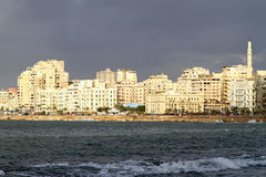 Alexandria-Ufergegend Stockbilder
