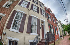 Alexandria virginia old wood houses Royalty Free Stock Photography