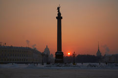 Alexandrine Column. On Palace Square. St.Petersburg. Russia stock photo