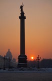 Alexandrine column Stock Image