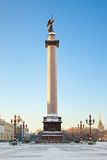 Alexandrine column. Saint-Petersburg. Russia. Alexandrine column. Palace square. Saint-Petersburg. Russia Royalty Free Stock Photography