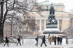 Alexandrinsky theater landmark St.Petersburg Royalty Free Stock Images