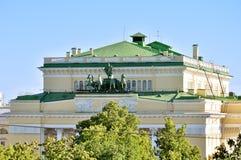 Alexandrinsky Theatre - Russian State Academy Drama Theater, Saint Petersburg, Russia Stock Photography
