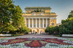 Alexandrinsky Theatre in Saint Petersburg Stock Photos