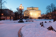 Alexandrinskytheater in St. Petersburg, Rusland Royalty-vrije Stock Foto's