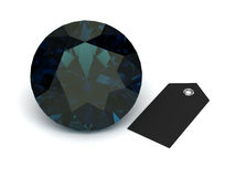 Alexandrite on white background . 3D image Royalty Free Stock Photography