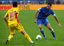 Alexandros Tziolis during FIFA World Cup Playoff Game Royalty Free Stock Photography
