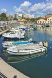 Anoramic view of Port and town of Alexandroupoli, Greece stock photo