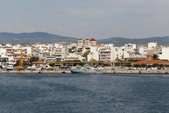 Alexandroupoli - View from the sea. City of Greece and the capital of the Evros peripheral unit in Thrace - Greece Royalty Free Stock Image