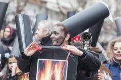 ALEXANDROUPOLIS, GRECIA - 16 MARZO: Partecipante non identificato di Fotografia Stock Libera da Diritti