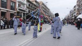 ALEXANDROUPOLIS, GRECIA - 16 MARZO: Partecipante non identificato di Fotografia Stock