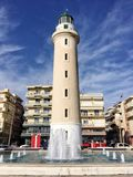 Lighthouse that is the landmark of Alexandroupolis city in Greece. Alexandroupolis, Greece - December 13, 2017: Lighthouse that is the landmark of Stock Photo
