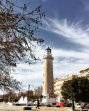 Lighthouse that is the landmark of Alexandroupolis city in Greece. Alexandroupolis, Greece - December 13, 2017: Lighthouse that is the landmark of Stock Photos