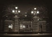 俄国沙皇时代的太子阿列克谢Alexandrovich的宫殿的门 圣彼德堡 免版税库存图片